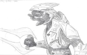 Halo Elite Finished Lineart by Mikey-Spillers