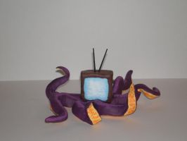 TV Octopus in 3D by saaio