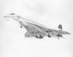 Concorde drawing by concaholic