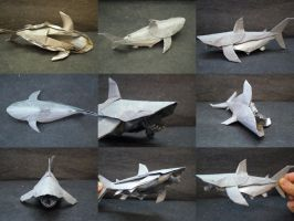 White Shark Collage-Trollip by origami-artist-galen
