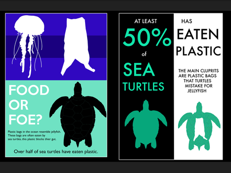 Sea turtles and  plastic [posters] by Sia-the-Mawile
