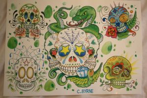 Skull Flash Sheet by itchysack