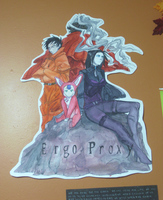 Ergo Proxy Poster (Mixed Media) by PurpleArtemis
