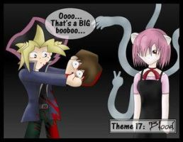 Theme:Blood-Yami and Lucy by B by The-Short-Ones