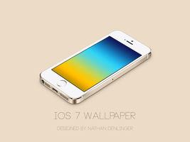 iPhone 5s with custom wallpaper by ndenlinger