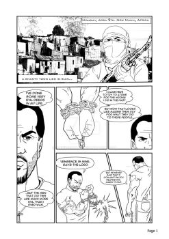 Test page for my graphic novel titled Evil Deeds by officerM