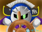 Meta Knight and the Halberd by clariecandy