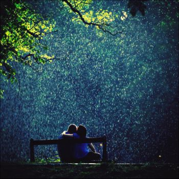 Love beneath the showery clouds by iNeedChemicalX