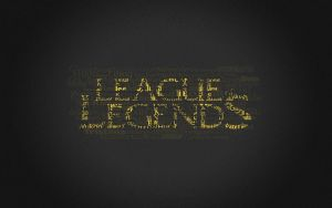 LoL Typography (GOLD) by Ammy184