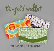 Sewing Tutorial - Tri-fold Wallet by SewDesuNe