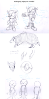 Redesigning Mighty the Armadillo by BlazeTBW