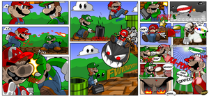 Ultimate Mario vs Luigi Fight by geogant