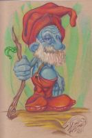 Papa Smurf re-imagined by DeviousE