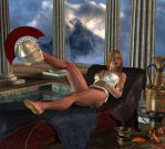 The relaxing Athena by Hera-of-Stockholm
