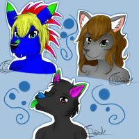 3 Headshots~ by Delkaria
