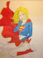 Supergirl With color by Mikeadams78