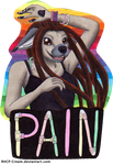 Pain CFD Badge by RHCP-Cream