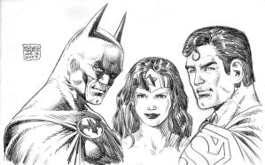 Batman, Wonder Woman, Superman by edtadeo