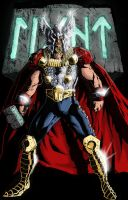 Thor Pin-up Digital Colors by MBDavenport
