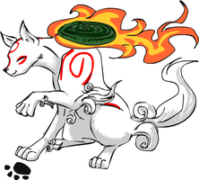 Youmacon 08 Sticker- Amaterasu by Patches365