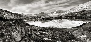 Snowdon in Mono by CharmingPhotography