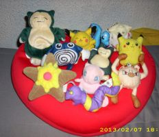 Pokemon Plush Collection *UPDATE* No 1 by kratosisy