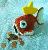 Magikarp Drawstring Coin Pouch by LaviLovepaw