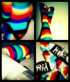 Rainbow Socks by prettylights23