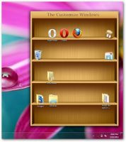 Windows 7 bookshelf for icons by AbhishekGhosh