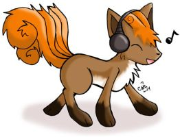 Vulpix with Headphones by raizy