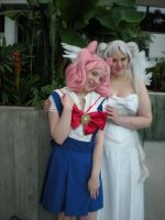 Chibiusa finds Queen Serenity by tarinalove