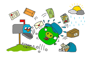 You can't mail a Angry Bird. by SageEarth