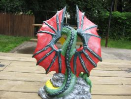 poison dragon full back view by ponygirl74