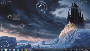Blue Castle Rogers1967 Rainmeter by Rogers1967