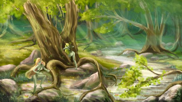 Forest dryads by charlietramp
