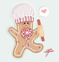 Gingerbread Chef by Jasmiijn