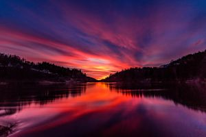 River sunset by Aliz1