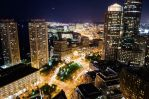 Boston Skyline At Night by Andrew-23