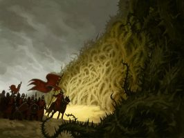 Wall of Thorns by alexstoneart
