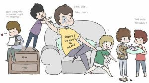 Paul Higgins babysitting One Direction by milamint
