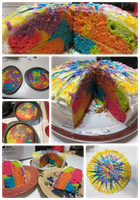 Tie-Dyed Cake by CrazedByCalliope