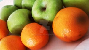 Apples + Oranges. by thisaoife