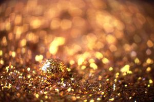 Golden Hearts Bokeh and drop .02. by NumericArt
