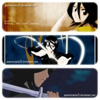 BLEACH: Rukia bookmark by AzumiOctania25
