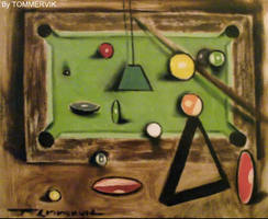 pool table painting by TOMMERVIK