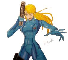 Zero Suit Samus by MikeES