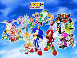 Sonic the Hedgehog and his Teams and Gang by 9029561