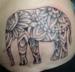 Paisley Elephant by dnmn89
