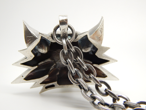 Witcher-medallion-silver-007 by BloodCountessKTD