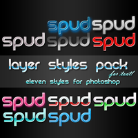 Photoshop Text Style Pack by spud100
